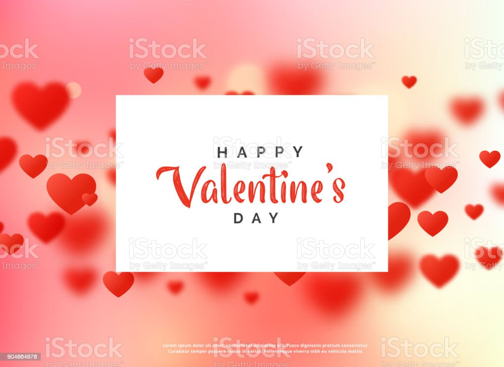 Nice Love Background For Valentines Day Stock Illustration