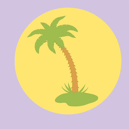 Nice Picture Of Island With Palm Trees Stock Vector Art & More Images of Abstract
