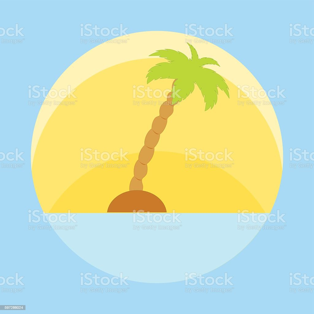 Nice picture of island with palm trees royalty-free nice picture of island with palm trees stock vector art & more images of design