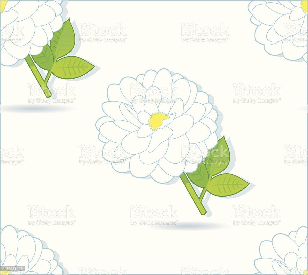 nice white Dahliapattern. vector art illustration