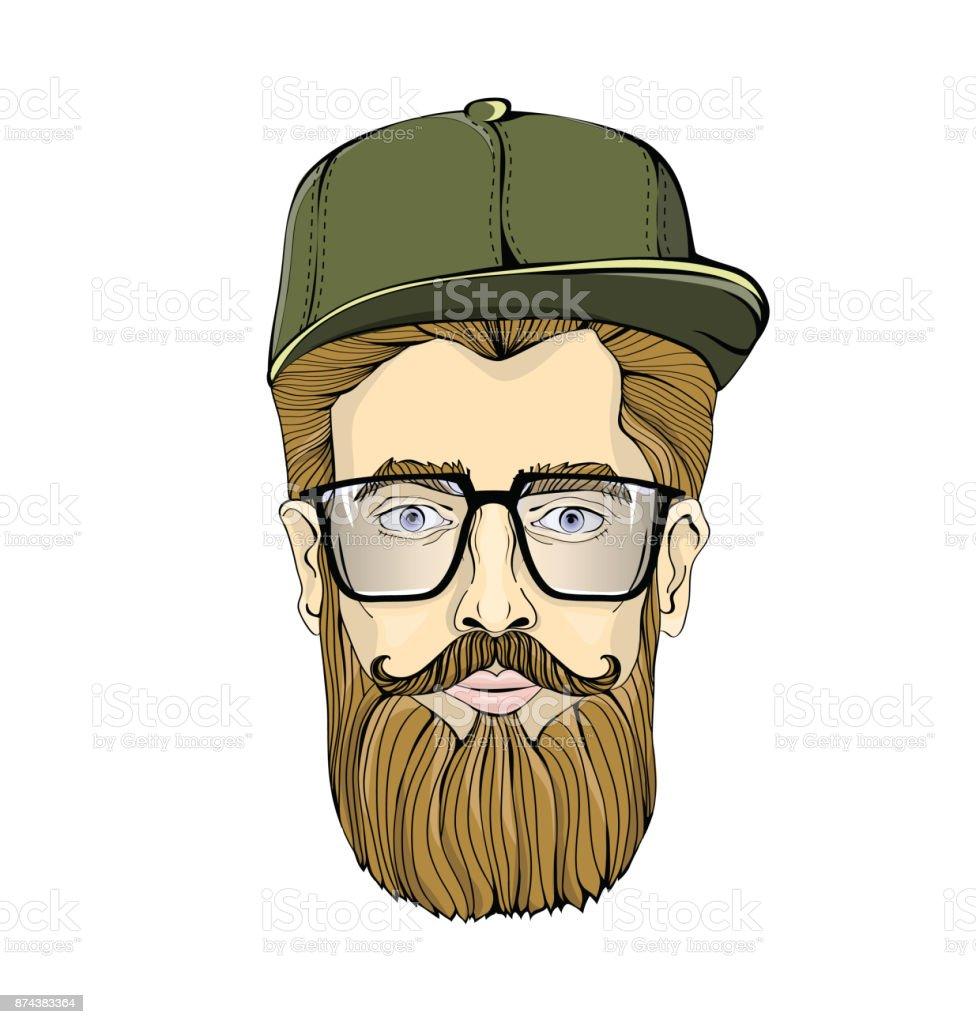 5b6a2e1327 Niza-mirando la tapa de hombre de lentes con barba y bigote usando verde  sobre