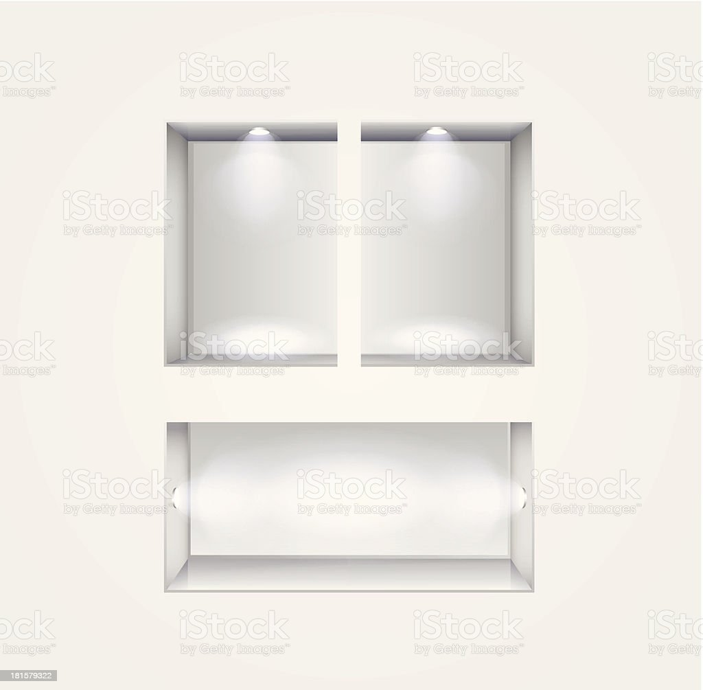 niche gallery interior royalty-free stock vector art