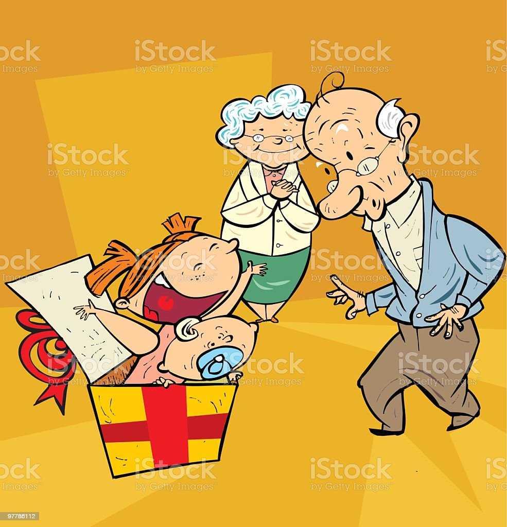 nietos sorpresa! royalty-free nietos sorpresa stock vector art & more images of adult