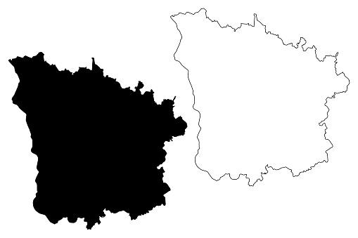 Nievre Department map