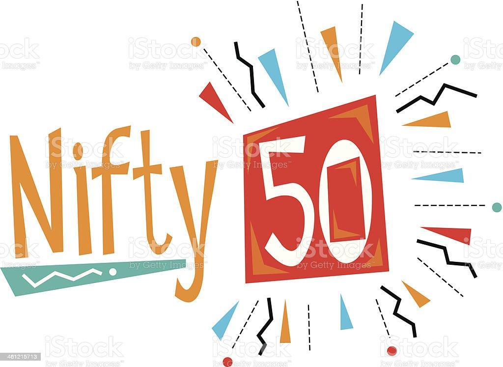Nifty50 Heading C vector art illustration