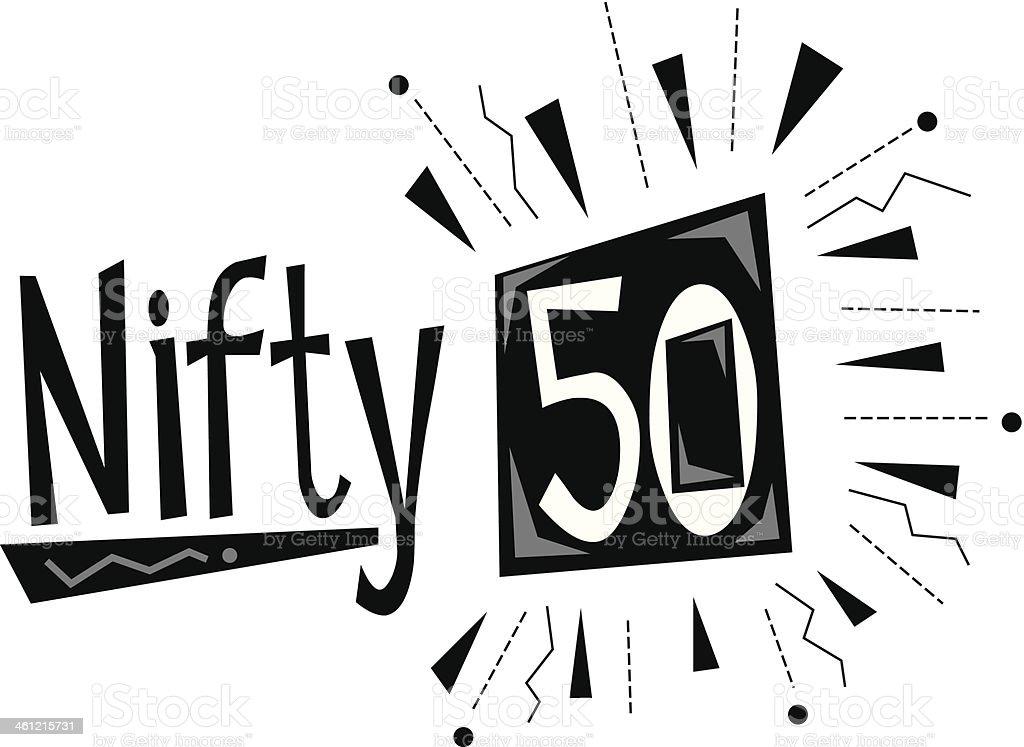 Nifty50 Heading vector art illustration