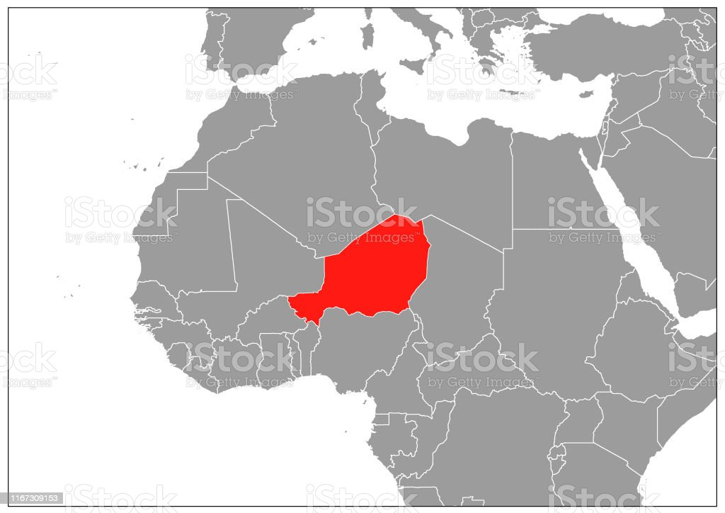Picture of: Niger Map On Gray Base Stock Illustration Download Image Now Istock