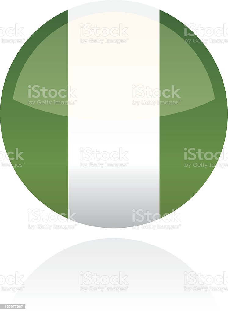 Nigeria, Africa Flag Button royalty-free stock vector art