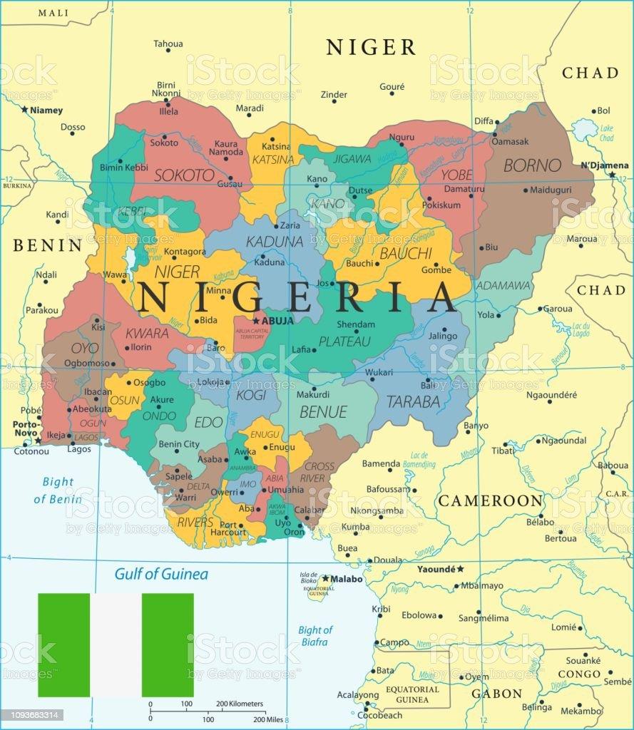 28 Nigeria Color2 10 Stock Illustration - Download Image Now