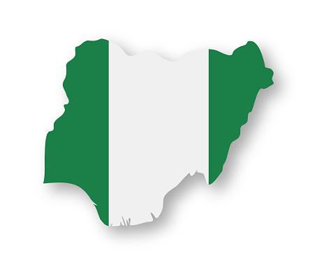 Nigeria - Contour Country Flag Vector Flat Icon