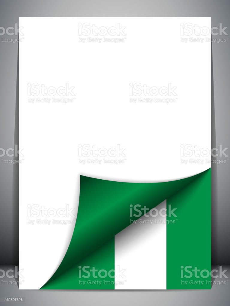Nigeria Country Flag Turning Page royalty-free stock vector art