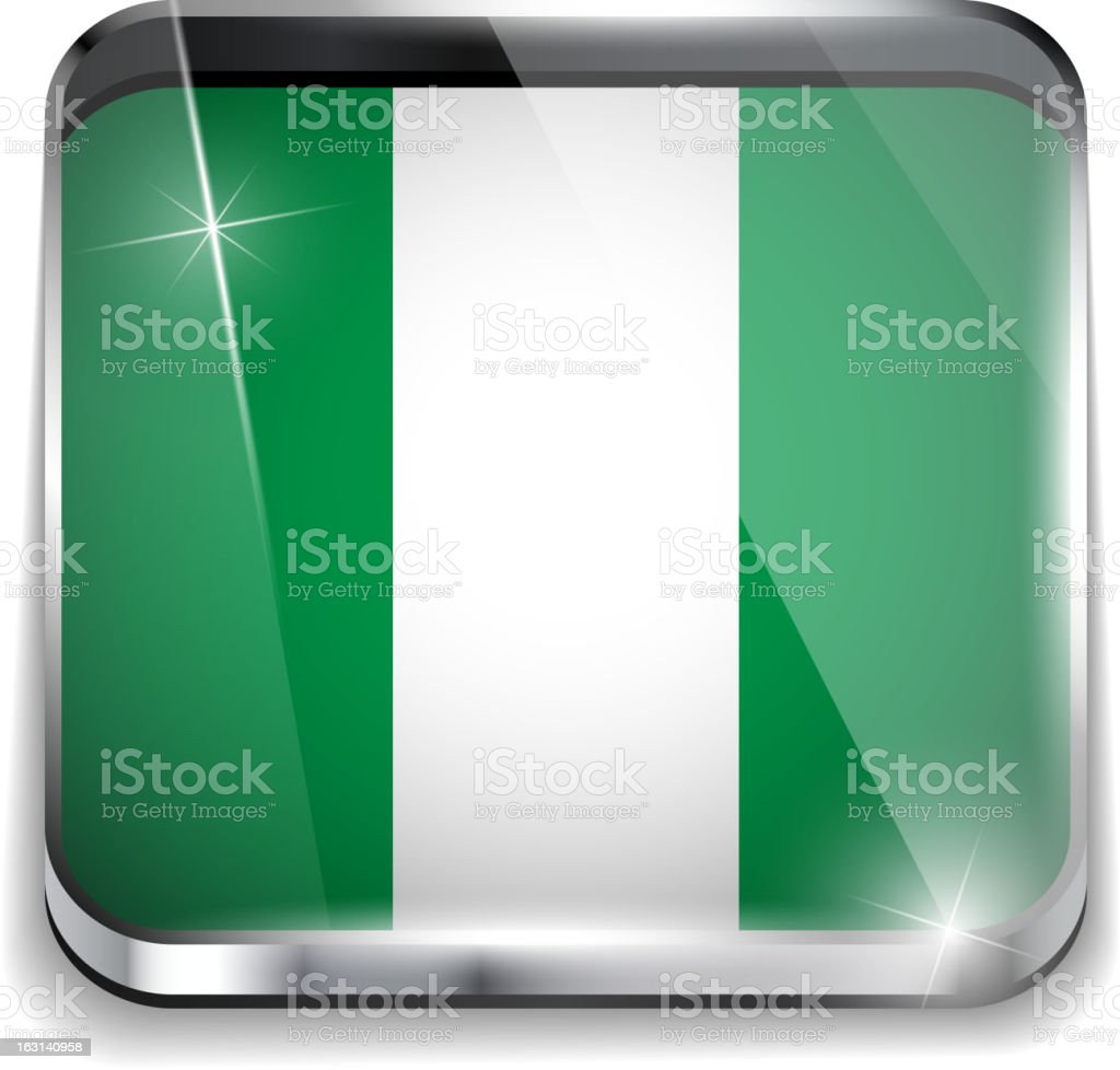 Nigeria Flag Smartphone Application Square Buttons royalty-free nigeria flag smartphone application square buttons stock vector art & more images of backgrounds