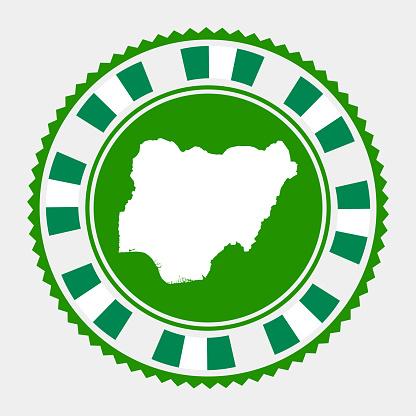 Nigeria flat stamp.