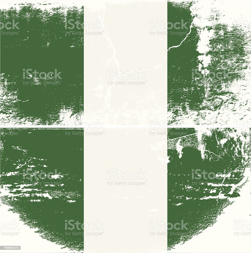 Nigeria Grunge flag royalty-free stock vector art