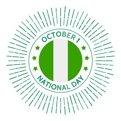 Nigeria national day badge.