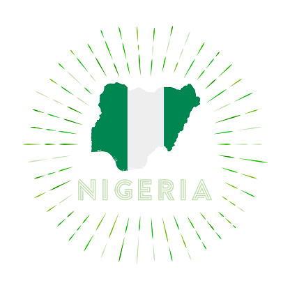 Nigeria sunburst badge.