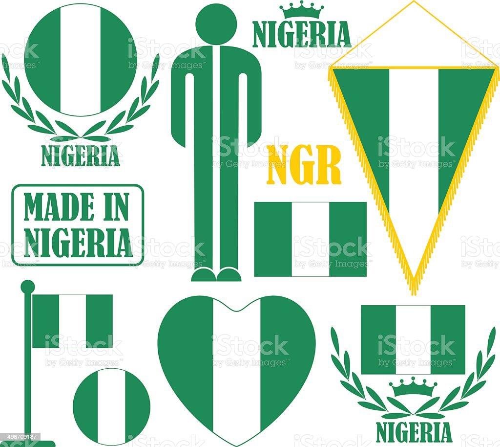 Nigeria vector art illustration