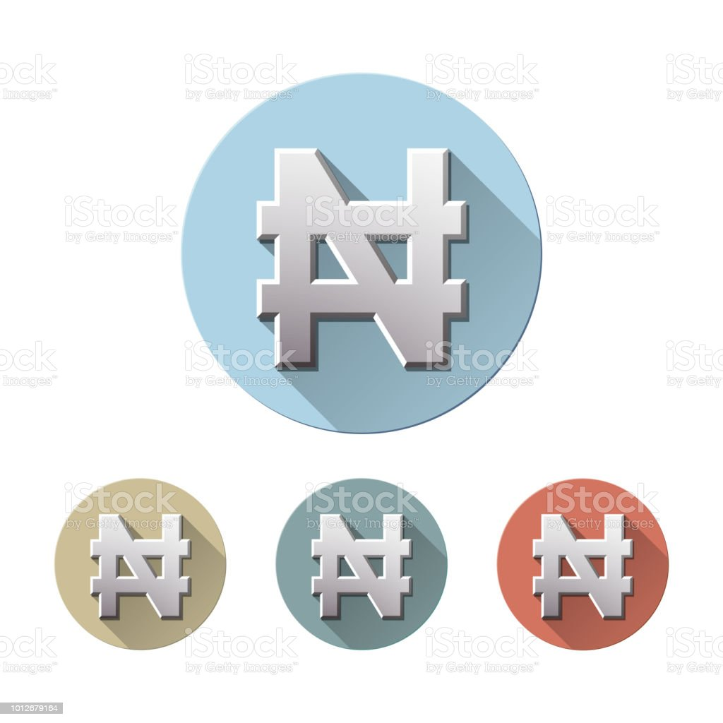Nigerian Naira Currency Sign Stock Vector Art More Images Of Bank