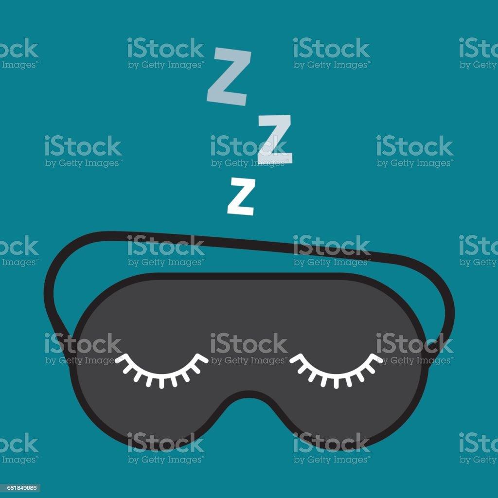 Night accessory to sleep vector art illustration