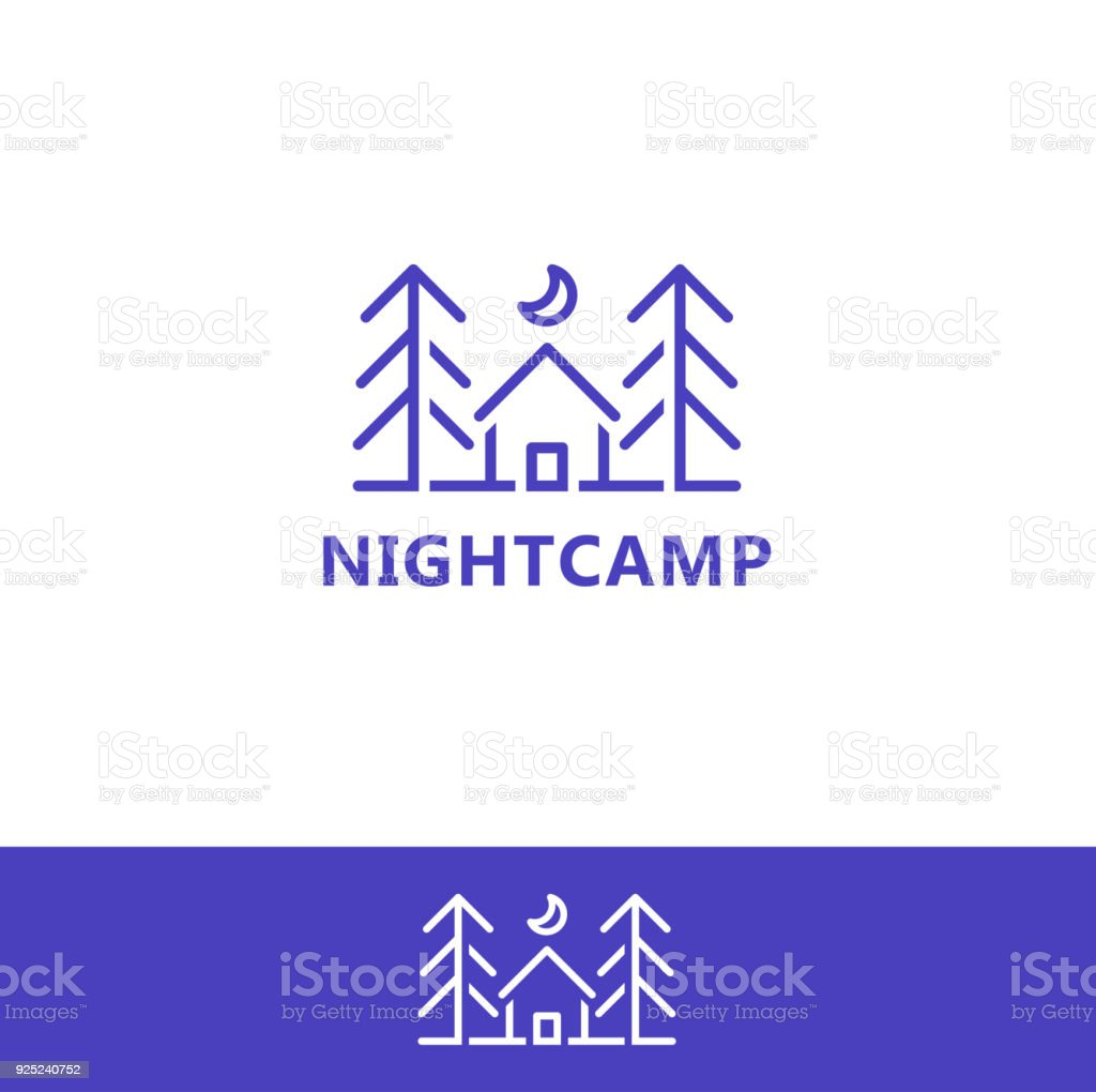 Night Camp Design Icon Template Stock Vector Art & More Images of ...