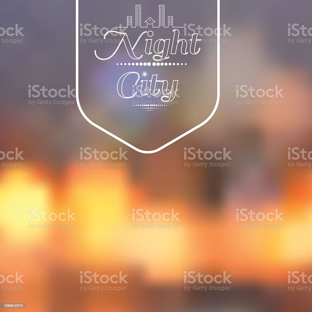 Night city background vector art illustration