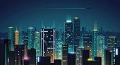 Night city illustration