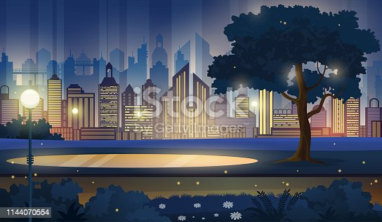 Cityscape vector background.