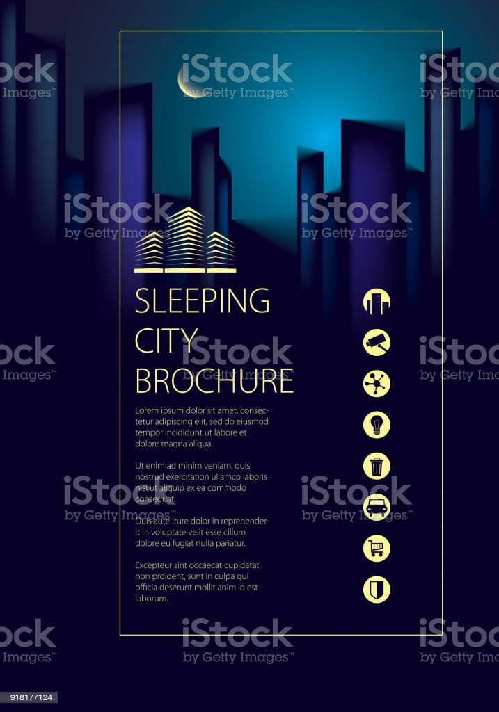 night city traveling tourist guide book brochure flyer cover poster