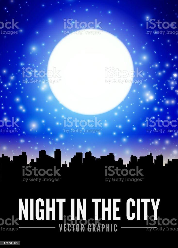 Night city royalty-free stock vector art