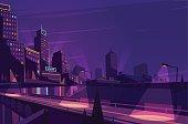 Night cityscape.