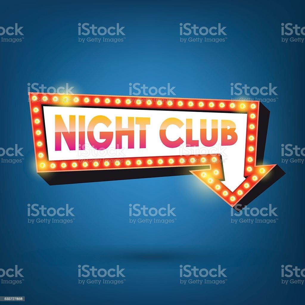 Ilustración de Club Nocturno Cartelera Marcos Retro Flecha Luz y más ...