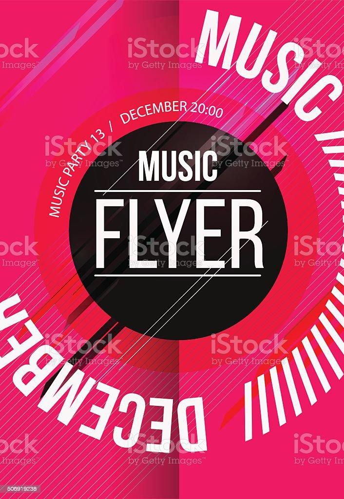 Ilustración de Club Nocturno Flyer Discoteca Póster Diseño y más ...