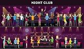 Night club interior set.