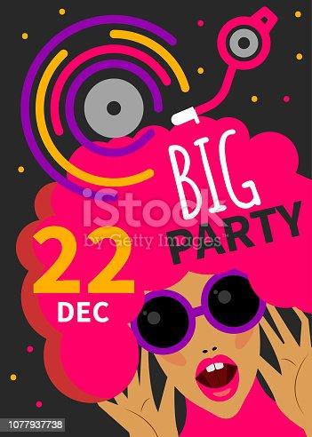 istock Night club poster 1077937738