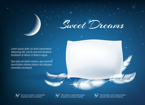 Night dream pillow poster