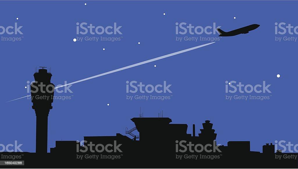 Night Flight vektorkonstillustration
