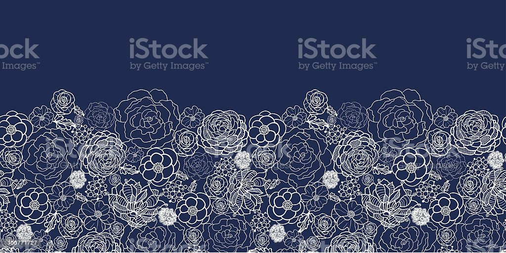 Night Flowers Lace Fabric Seamless Horizontal Ornament royalty-free night flowers lace fabric seamless horizontal ornament stock vector art & more images of abstract