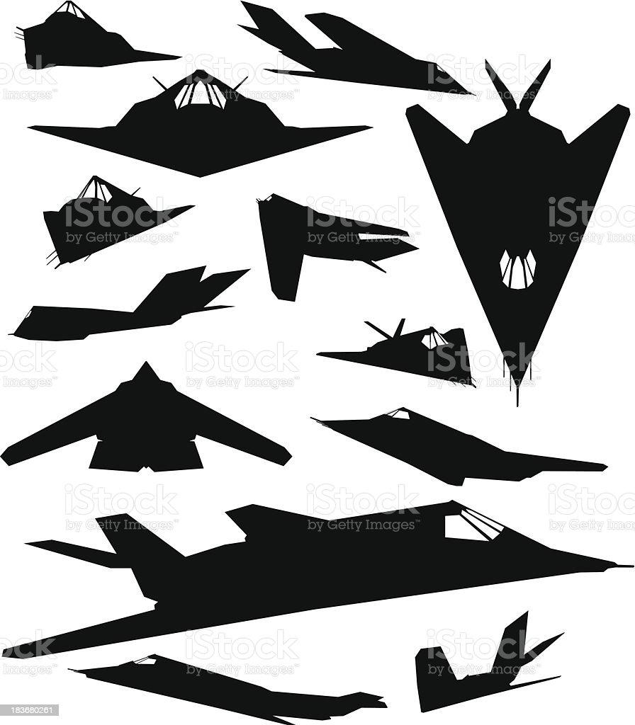 F117 Night Hawk royalty-free stock vector art