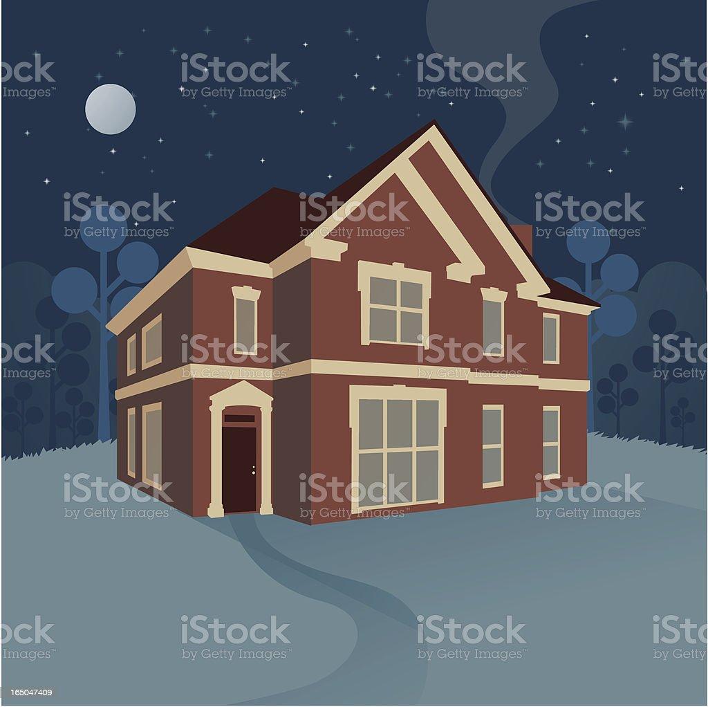 night house royalty-free stock vector art