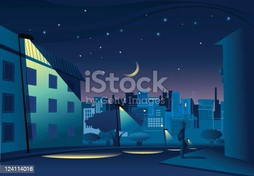 istock Night in town 124114016