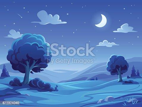 istock Night Landscape 672324040