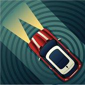 istock Night Motoring Mini Cooper 115942794