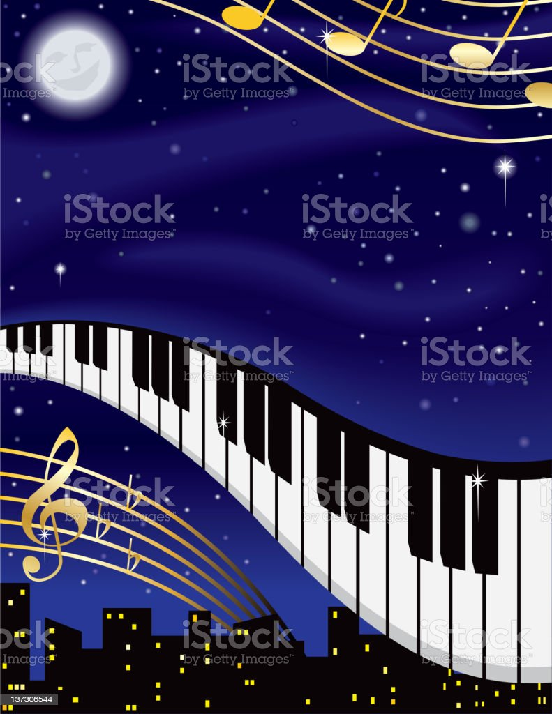 Night Music royalty-free stock vector art