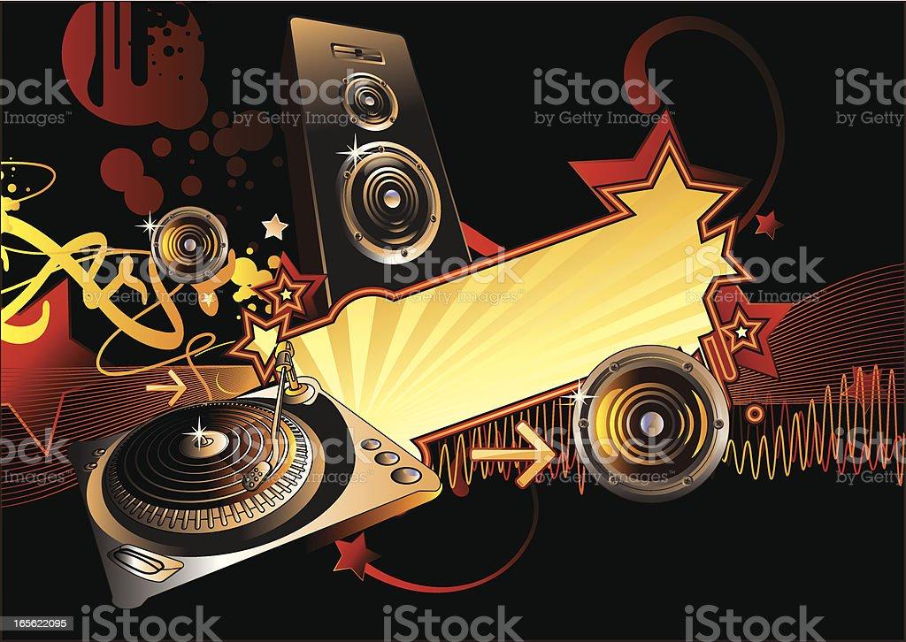 Night music royalty-free stock vector art