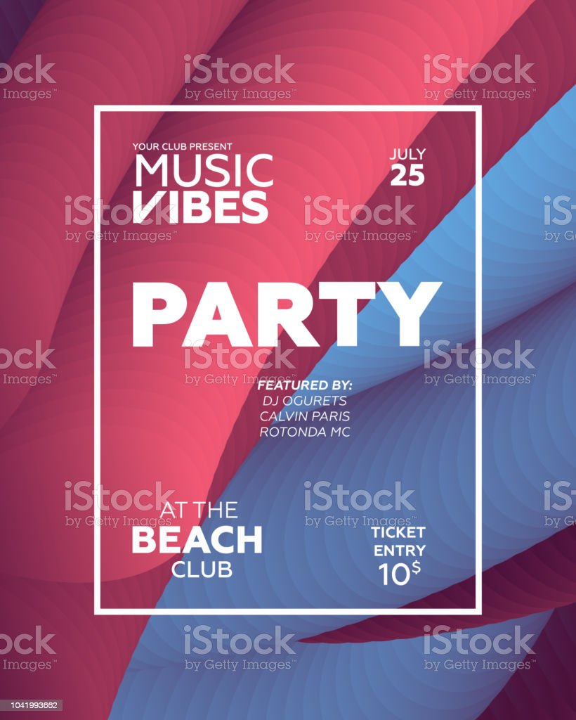 Night Party banner template