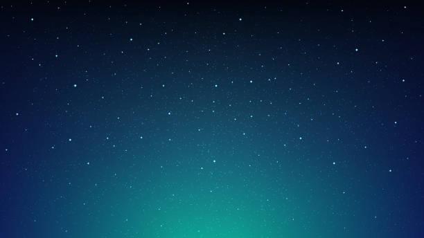 コスモスの星夜輝く満天の星空、青いスペース背景 - 空点のイラスト素材/クリップアート素材/マンガ素材/アイコン素材