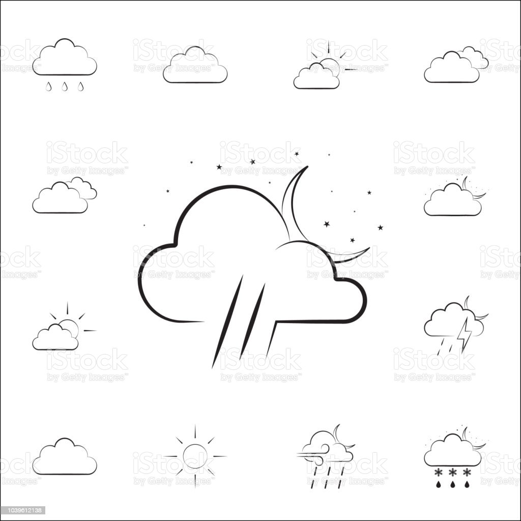 night sign icon. Weather icons universal set for web and mobile on...