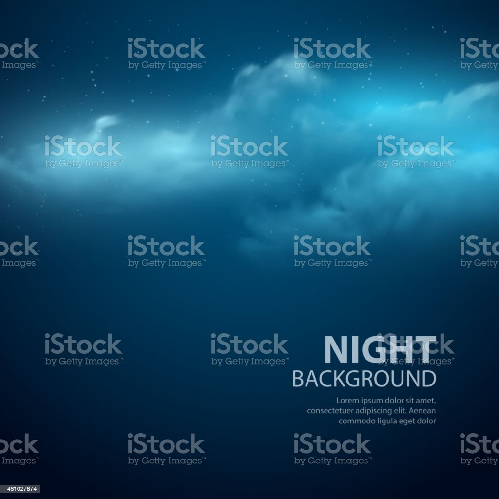 Night sky abstract background. Vector illustration vector art illustration