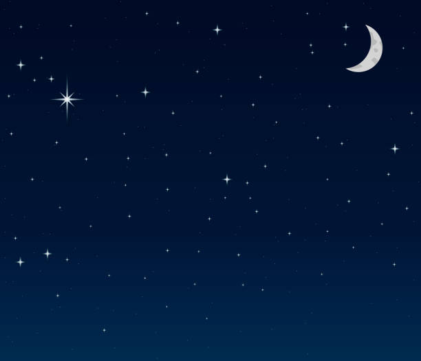 bildbanksillustrationer, clip art samt tecknat material och ikoner med night sky background - natt