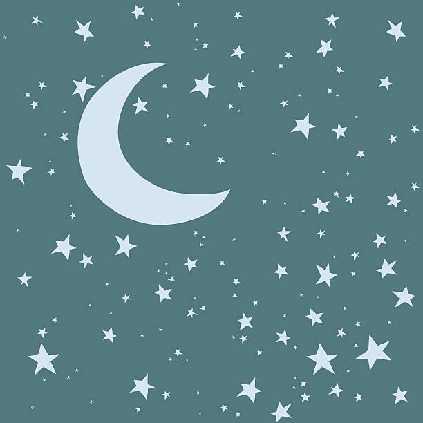 bildbanksillustrationer, clip art samt tecknat material och ikoner med night sky background - baby sleeping